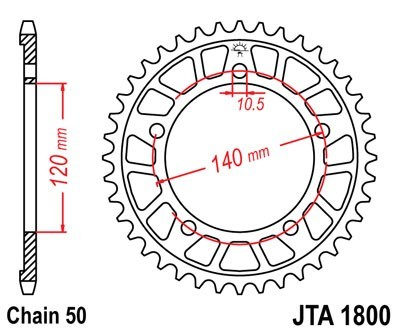JT Rear Sprocket Alu