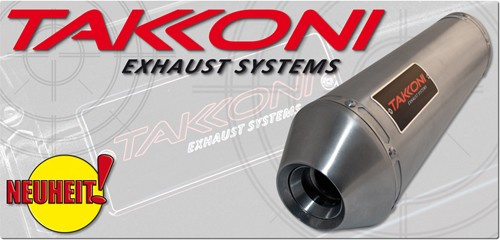 TAKKONI brushed inox racing silencers KTM LC8 990 Superduke, 05-06, per set, not E-keur