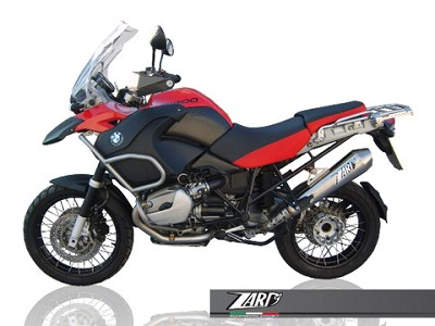 ZARD exhaust for BMW R 1200 GS, year 2004 til 2009, Titan, slip on, E-marked.