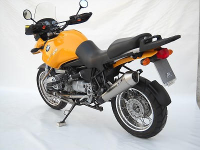 ZARD exhaust for BMW R 850/1150 GS / 1150 R, stainless steel silk, slip on, E-marked.