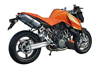 ZARD exhaust for KTM 950 and 990 SM, stainless steel / aluminium, slip on, E-marked,
