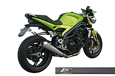 ZARD exhaust for Triumph Speed Triple 1050, model 2005 til 2006, Inox, slip on 3-1, E-mar