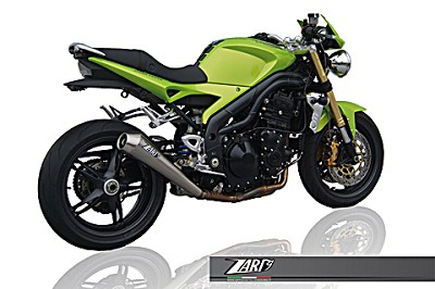 ZARD exhaust for Triumph Speed Triple 1050, model 2007 til 2010, Inox, slip on 3-1, E-mar