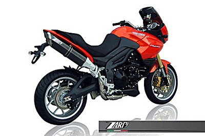 ZARD PENTA exhaust for Triumph Tiger 800, high mounted, alu black, slip on, E-marked