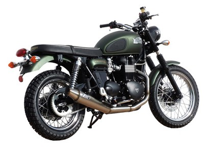 ZARD complete exhaust system for Triumph Scrambler, Bonneville and Thruxton, model 2008 til