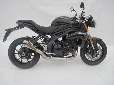 ZARD V2 exhaust for Triumph Speed Triple 1050, model 2011, titan, slip on 3-1, E-mar