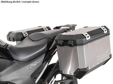 honda sw motech trax evo kofferset bagage motorkleding. Black Bedroom Furniture Sets. Home Design Ideas