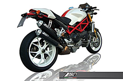ZARD exhaust for Ducati Monster M S2R 800 and 1000 and M S4R, Carbon, slip on, E-marked&