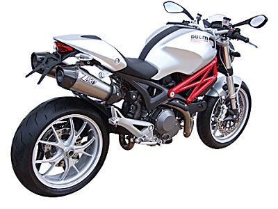 ZARD exhaust for Ducati Monster 696 and 1100, from year 2009, inox, slip on, E-marke