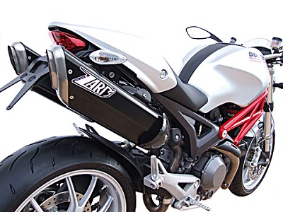 ZARD PENTA exhaust for Ducati Monster 696 and 1100, from year 2009, Aluminium Black, sli