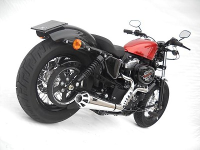 ZARD complete exhaust for Harley Davidson Sportster, from year 2006, inox polished, E-ma