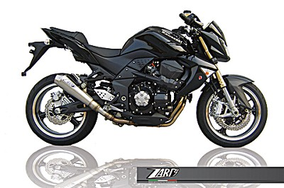 ZARD exhaust for Kawasaki Z 750, from year 2007, inox, slip on, E-marked, incl.