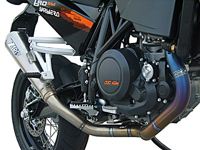 ZARD complete exhaust system for KTM 690 SM, inox, E-marked, incl. Cat.