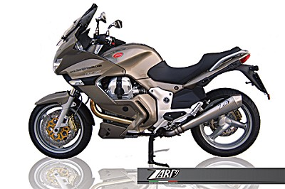 ZARD exhaust for Moto Guzzi Norge 1200, Inox, slip on, E-marked, including catalyst.