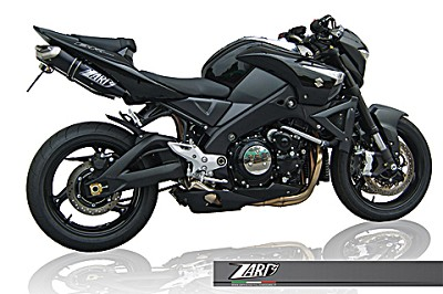 ZARD PENTA-exhaust for Suzuki B-King, Alu Black, slip on, E-marked.