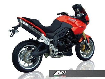 ZARD PENTA exhaust for Triumph Tiger 1050, high mounted, Alu Black, slip on, E-marke